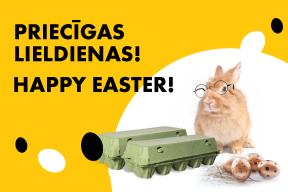 Priecīgas  Lieldienas! Iepako savas Lieldienu olas pats!