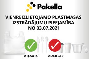 Vienkartinius plastikinius gaminius galima įsigyti nuo 2021 07 03