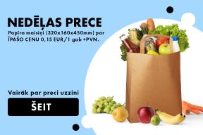 Papīra maisiņi par īpašo cenu 0,15 EUR/1 gab +PVN