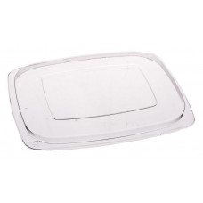Lid for rectangular container 250-500ml 140*115mm, transparent OPS