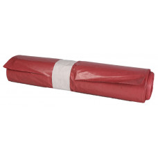 Trash bags 100L 700x1100mm 60my, red LDPE