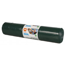 Trash bags  350L,1200x1500mm, 60my, double-layer, black LDPE