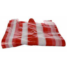 Bags with handles 30+16x52 cm 13my striped HDPE