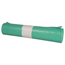 Trash bags  100L 700x1100mm 39my green LDPE