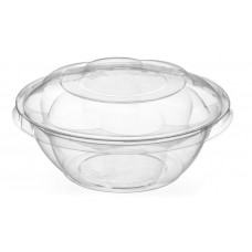 Lid for round container 750ml 155*155*60mm traukam, transparent OPS