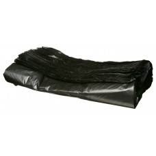 Bags with handles 38/20x60 cm, 25kg, black with Boss print HDPE