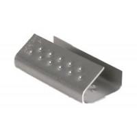 Skava PP spriegošanas lentai līdz 13mm platumam, metāla, M-13, kastē - 3000 gab