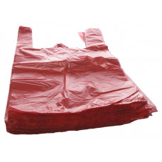 Bags with handles 24+12x45 cm, 9my yellow HDPE