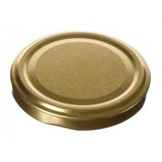 Metāla vāciņš, skrūvējams 66 mm burkām, zelta