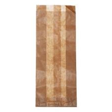 Popierinis maišelis 100+55x250 mm, rudas
