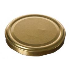 Metāla vāciņš, skrūvējams 82 mm, burkām, zelta