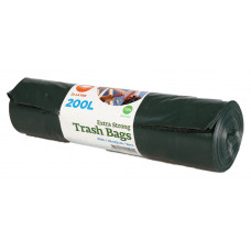 Trash bags  200L, 820x1250mm 60my, double-layer, black LDPE