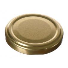 Metāla vāciņš, skrūvējams 58 mm burkām, zelta