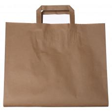 Popierinis maišelis 320x150x400mm, su plokščiomis rankenomis, rudas