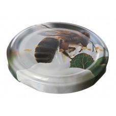 Metāla vāciņš, skrūvējams 66 mm burkām,  Foto bite