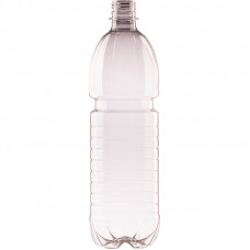 PET pudele 1.0L 28mm, caurspīdīga