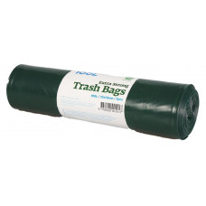 Trash bags  100L, 720x1120mm 60my, double-layer, black LDPE