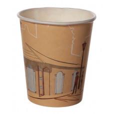 Papīra glāze 250ml 80mm, Kafijas iela
