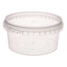 Container with safety lock 500ml and lid 131mm  transparent, PP