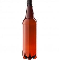 PET pudele 1.0L 28mm, brūna