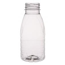 PET piena pudele 0.33L 38mm, caurspīdīga