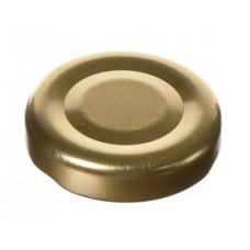 Metāla vāciņš, skrūvējams 38 mm, zelta