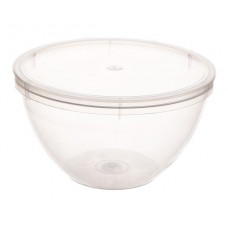 Container withouth safety lock 220ml with lid 96mm, transparent PP