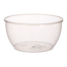 Container withouth safety lock 360ml with lid112mm, transparent PP