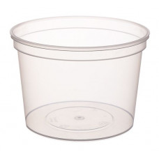 Container withouth safety lock 500ml with lid 112mm, transparent PP