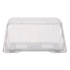 Rectangular container  175*136*85mm hinged lid, transparent RPET