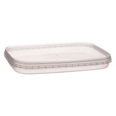 Rectangular container with safety lock 200ml and lid, transparent PP