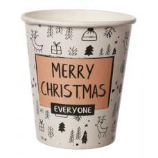 Papīra glāze 250ml 80mm,Merry Christmas