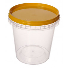 Container with safety lock 670ml and lid 110mm  transparent, PP
