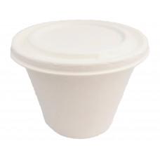 ECO cukranendrių indelis sriubai 425ml, baltas