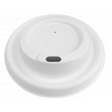 ECO cukranendrių dangtelis puodeliui 90mm skersmens, baltas