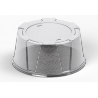 Round container for cake 245*115mm with lid, transparent RPET